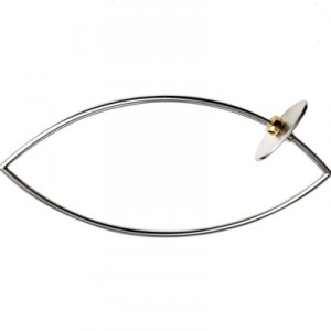 Contemporary Silver and Gold bangle
