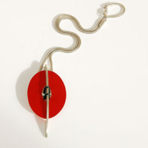 Contemporary Interchangeable Silver with Anodised Aluminium Necklace £105, Helen Swan, fine handmade jewellery Glasgow