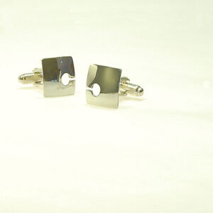 contemporary square-silver-cufflinks £69, Helen Swan, fine handmade jewellery Glasgow