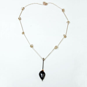 silver-and-gold-Necklace-£110, Helen Swan, fine handmade jewellery Glasgow