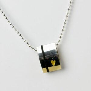 contemporary designer silver necklace by scottish designer jeweller helen swan