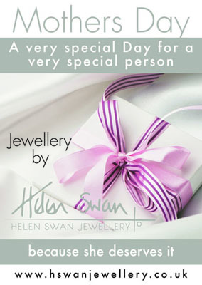Mothers Day Jewellery. Contemporary, Designer Jewellery by Scottish jewellery designer Helen Swan. Designer jewellery based in Glasgow