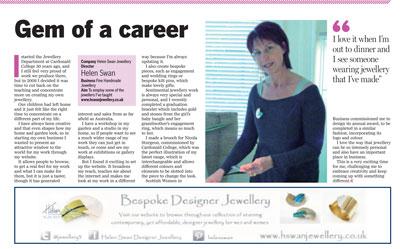 Helen Swan Designer Jeweller, Glasgow, Scotland