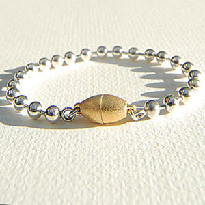 Designer Silver linked Bangle with magnetic catch