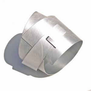 Designer Bangle in Anodised Aluminium by Scottish contemporary jewellery designer Helen Swan whose studio is in Glasgow's westend