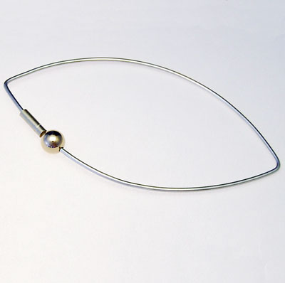 Designer silver and Gold bangle donated to The Carers Trust Charity Auction
