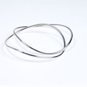 Contemporary Designer Silver Bangle
