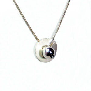 Contemporary Designer Silver Necklace