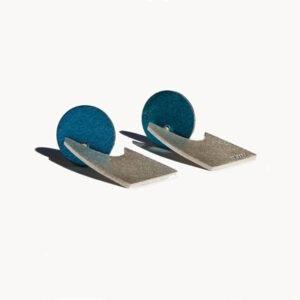 Silver and Aluminium Earrings