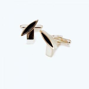 contemporary silver cufflink