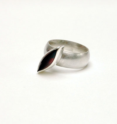 bespoke contemporary designer Garnet ring