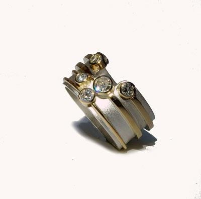 Designer Gold and Diamond Ring