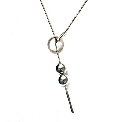 Silver Necklace by Scottish jewellery designer Helen Swan, Glasgow, UK