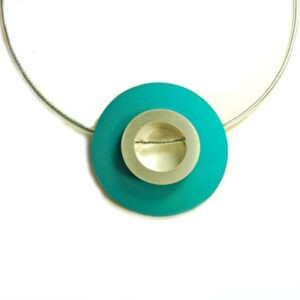 Designer Silver and Anodised Aluminium Necklace 2