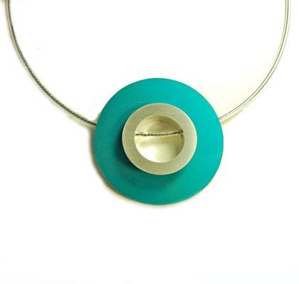 Designer Silver and Anodised Aluminium Necklace 2