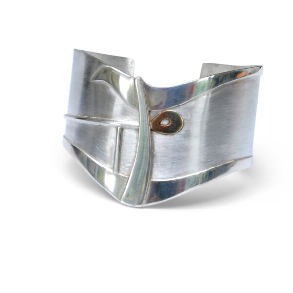 silver cuff with gold detail