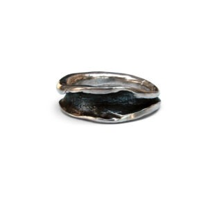 Organic oxidised cast ring. This ring was designed to be worn on the index finger but looks good on any finger.