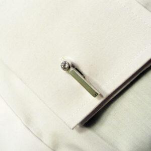 Designer Cubic Zirconium Silver Cufflinks
