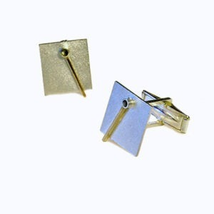 Designer silver gold cufflinks