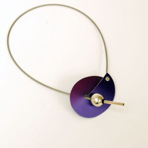 Contemporary Anodised Aluminium, Silver and Steel Necklace £68, Helen Swan, fine handmade jewellery Glasgow