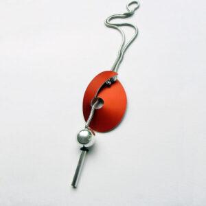 Interchangeable. Anodised Aluminium and Silver necklace £98, Helen Swan, fine handmade jewellery Glasgow
