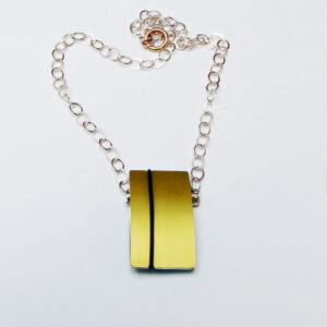 interchangeable Designer Silver with Anodised Aluminium Necklace £98, Helen Swan, fine handmade jewellery Glasgow