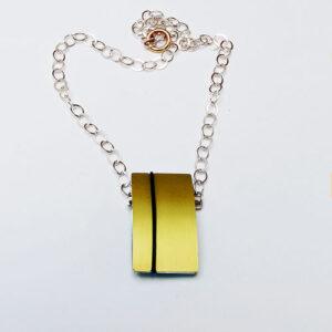 interchangeable Designer Silver with Anodised Aluminium Necklace £98, Helen Swan, fine handmade jewellery Glasgow