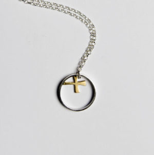 silver gold designer necklace scottish jeweller helen swan
