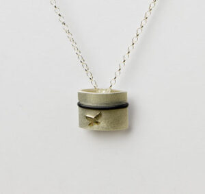 silver, gold. designer,contemporary,jewellery.scottish designer silver necklace