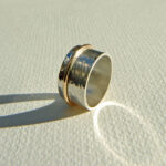 Designer Silver and Gold Ring by Scottish jewellery designer for Glasgow Scotland Uk