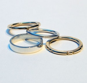 Designer Silver and Gold ring stack