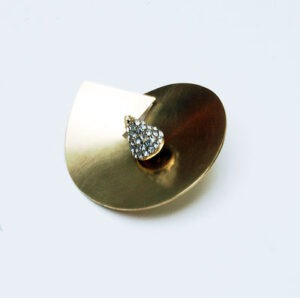 Designer, contemporary Diamonte Brooch by contemporary .Sscottish jewellery designer Helen Swan from Glasgow