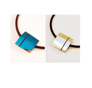 Designer Necklace interchangeable Silver and Aluminium by Scottish jewellery designer Helen Swan whose studio is in Glasgow UK
