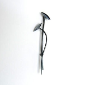 Ladies and Gents Kilt-Pin in Oxidised Sterling Silver by Scottish Jewellery Designer Helen Swan