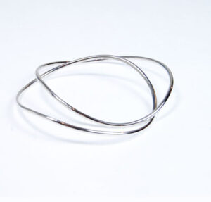Contemporary Designer Silver Bangle