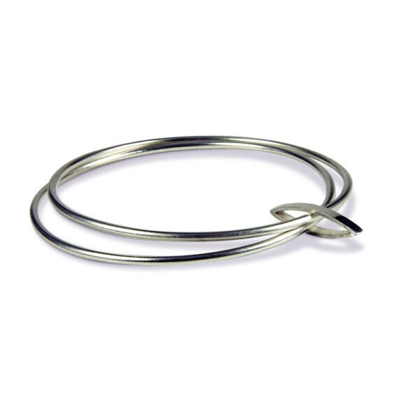 Joined Double Bangle with Marquis shaped link
