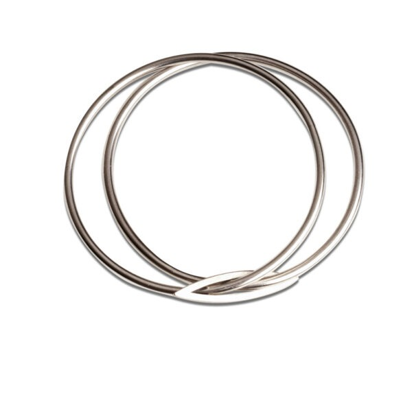 Silver Marquis Stacking Bangle on a white background