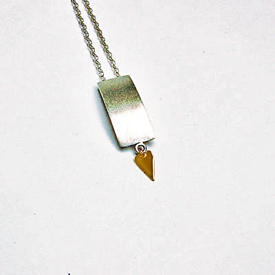 Designer Silver and Gold Necklace