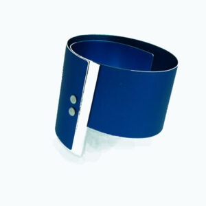 Anodised and Silver Designer Bangle