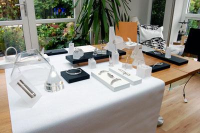 Helen Swan Designer Jewellery Exhibition gets under way.