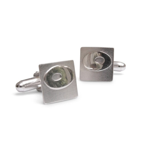 Textured square cufflinks will polished oval relief pattern These designer cufflinks are designed to complement my contemporary kilt pins