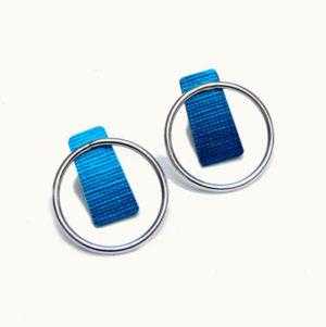 Designer Silver and Anodised Aluminium Earrings