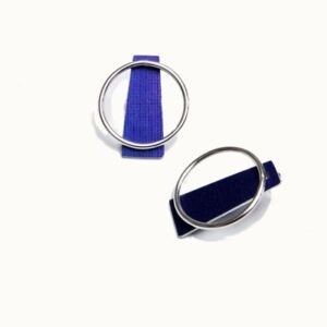 Designer Silver and Anodised Aluminium Earrings