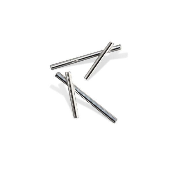 Geometric Crossed Lines Stud Earrings shown asHighly polished stud earrings approx. 45mm long