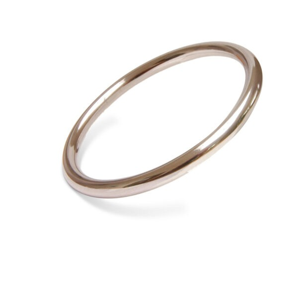 Chunky round bangle in 6mm round wire