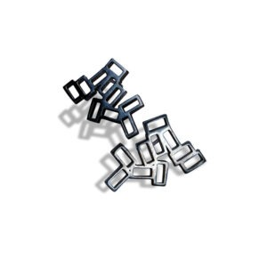 Cluster Earring Studs. Stud earrings a cluster of rectangles. The cluster earrings are insprired by the lava rock of Lanzarote. They are black oxidised metal